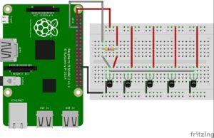 Schaubild von mehreren DS1820 Sensoren am Raspberry Pi